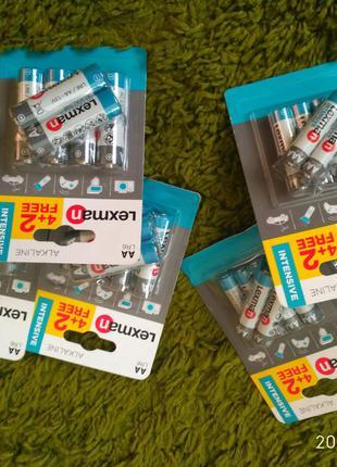 Батарейки (набор 6 шт) LEXMAN AAA LR03 и AA LR6
