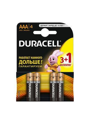 Батарейки Duracell AA R06, AAA R03.