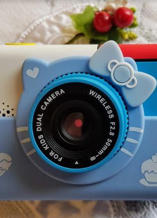 Фотоаппарат с 2 камерами 28 Mp Hello Kitty Детский Хелло Китти