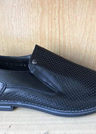 Летние туфли мужские кожаные в дырочку Mida новые