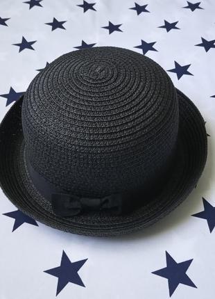 Шляпа женская летняя котелок черная