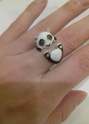 Серебряное кольцо панда  16,5р