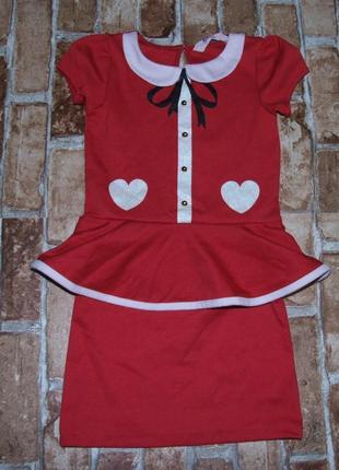Трикотажное нарядное платье 4 - 5 - 6 лет новогоднее девочке H&M