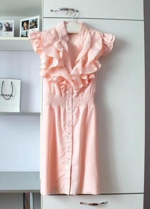 Нарядная удлиненная блуза с рюшами от eva&lola