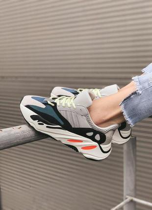 Adidas yeezy boost 700 wave runner solid мужские стильные крос...