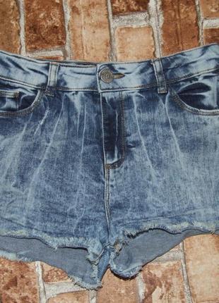 Короткие джинсовые шорты 11-12 лет river island стрейч