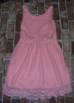 Нарядное кружевное платье 11-12 лет h&m