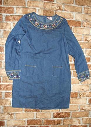 Джинсовое платье 13 лет