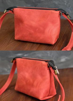 Женская небольшая сумка из натуральной винтажной кожи на лето ...