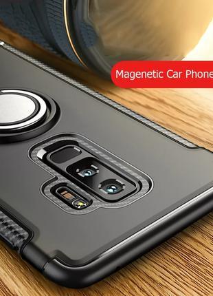 iPhone X - Чехол Магнитный с Кольцом, Бампер
