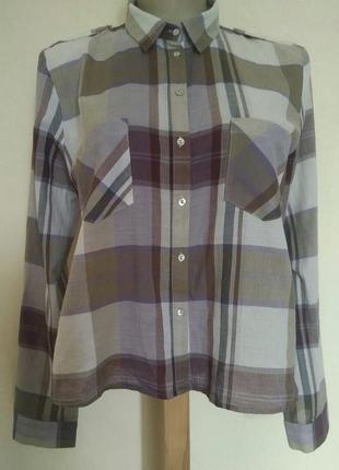 В наличии - клетчатая рубашка *zara woman* р. l