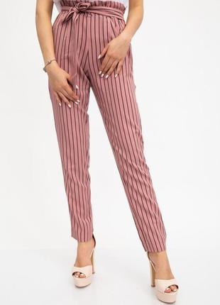 Брюки женские цвета пудра, брюки в полоску, жіночі штани, штан...