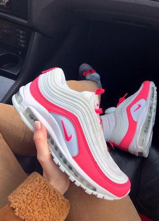 Sale кроссовки nike air max 97 white&pink  🌶