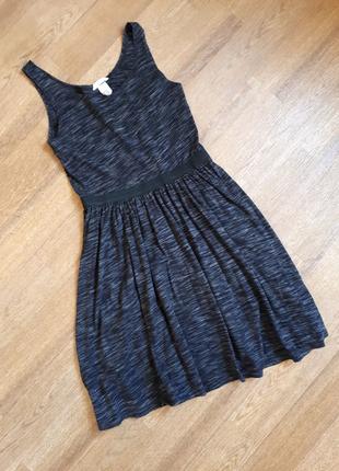 Платье H&M темно серое базовое минимализм девочке рось 158-164