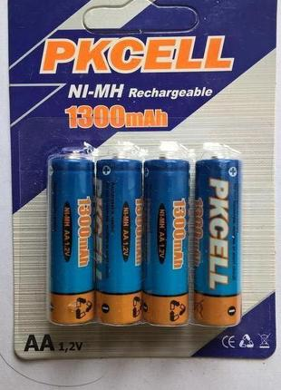 Аккумуляторные батарейки PKCELL 1300 mAh 25 грн.