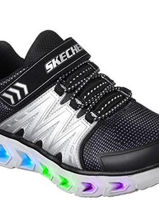 Светящиеся кроссовки skechers 32 eu