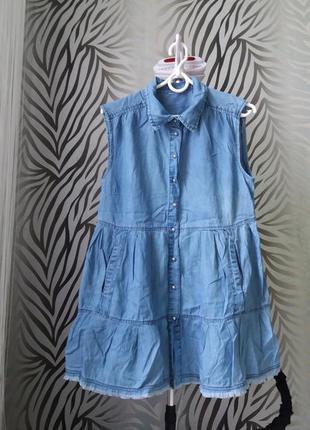 Джинсове коротке плаття