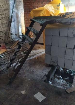 Лестница 3,7м железная металлическая СССР массивная качественн...