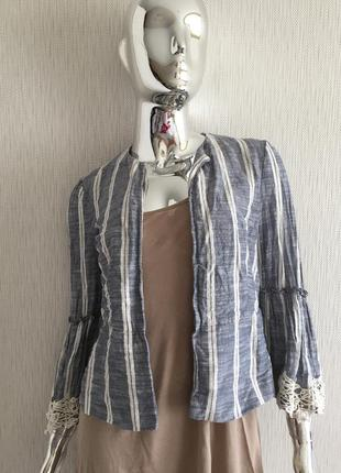 Пиджак накидка болеро кружево zara