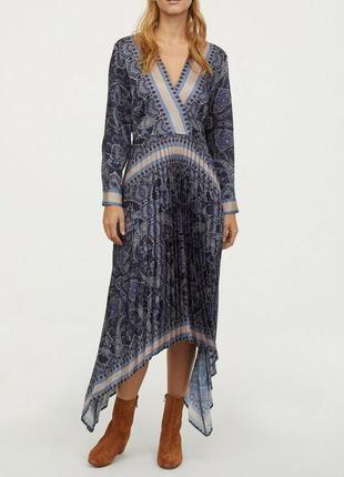 Плиссированное платье миди h&m