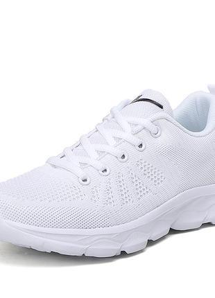 Белые кроссовки сетка 35 размер