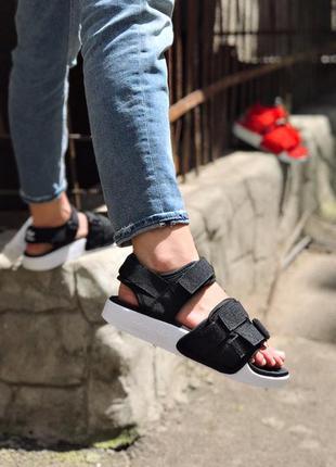Adidas adilette sandal ✰ женские босоножки ✰ сандалит черного ...