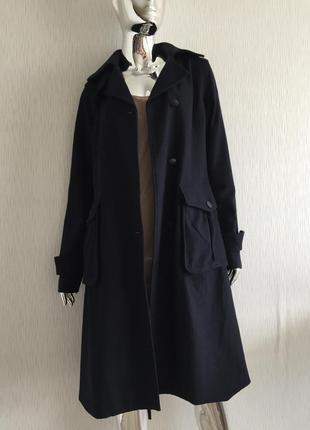 Классическая пальто с накладными карманами massimo dutti дефек...