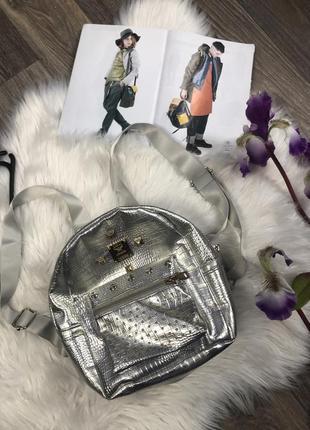 Маленький стильный лакшери  рюкзак mcm рюкзачок стильный модны...