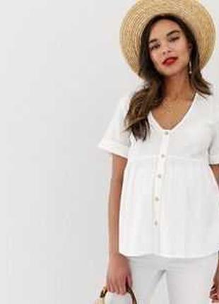 Хлопковая блузка для беременных asos