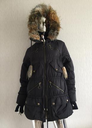 Куртка парка пуховик с капюшоном diade