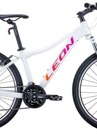 Велосипед 26″ Leon HT-LADY 2020 (бело-малиновый с оранжевым)