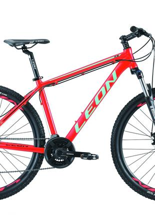 Велосипед 27.5″ Leon XC-90 AM preload 14G DD Al 2019 (красно-бирю
