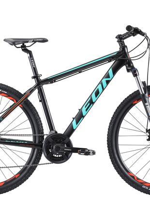 Велосипед 27.5″ Leon XC-90 AM preload 14G DD Al 2019 (черно-бирюз