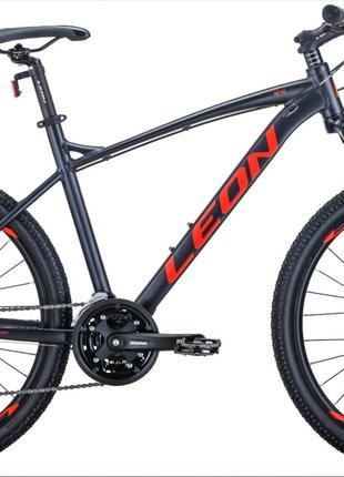 Велосипед 26″ Leon HT-90 2020 (графитовый с красным)