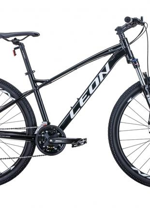 Велосипед 27.5″ Leon XC-90 2020 (чёрно-белый c серым)