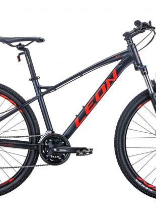 Велосипед 27.5″ Leon XC-90 2020 (графитовый с красным)