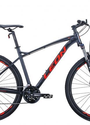 Велосипед 29″ Leon TN-90 2020 (графитовый с красным)