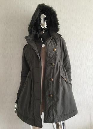 Пальто парка с капюшоном g21