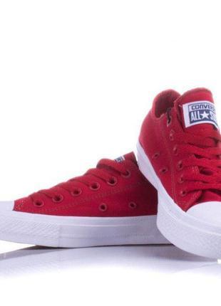 Кеды converse all star 2 красные низкие кроссовки весна / лето...