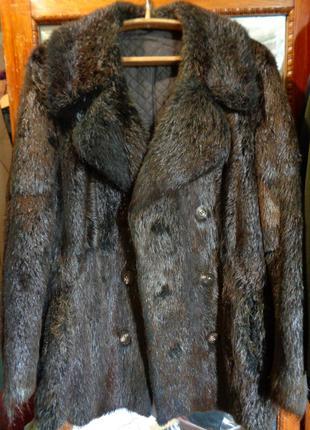 €2000 Шуба пальто меховое бобер Германия дубленка норка енот