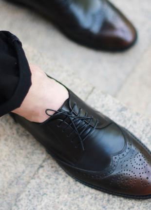 Мужские кожаные туфли IKOS