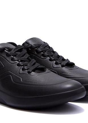 Мужские кожаные кроссовки yavgor black