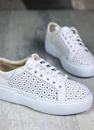 ❤ женские белые кожаные кеды / кроссовки ❤
