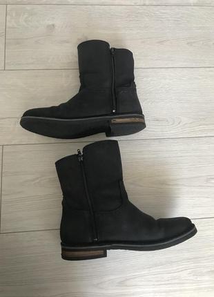Черные ботинки, зимняя обувь, обувь на зиму, кожаные ботинки.