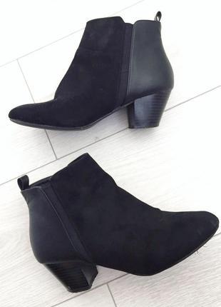 Ботинки, ботінки, чобітки, на толстом каблуке, на низькому каб...