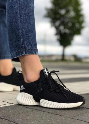 Кроссовки adidas alphabounce black white адидас черные с белой...