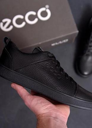 Мужские кожаные кроссовки eссо