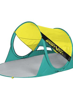Пляжный тент SportVida Yellow/Green 190 x 120 см