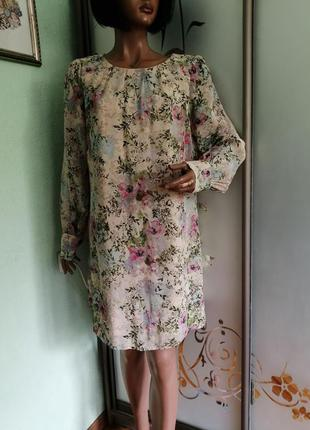 Шифоновое вискозное платье прямого силуета от dorothy perkins