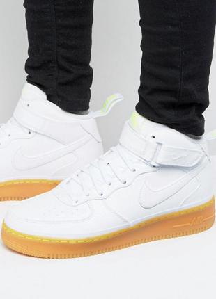 Белые кроссовки nike air force 1 оригинал размер 45